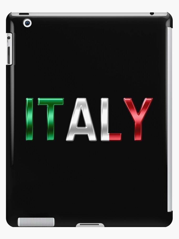 Italy - Italian Flag - Metallic Text by graphix