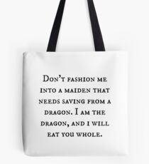 Dragon of Feminism 2 Tote Bag
