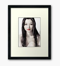 Sensual artistic beauty portrait of young asian woman face art photo print Framed Print