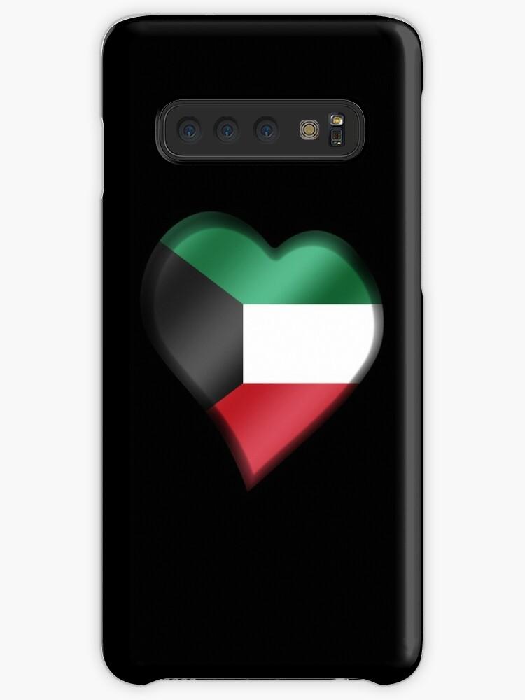 'Kuwaiti Flag - Kuwait - Heart' Case/Skin for Samsung Galaxy by graphix
