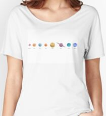 Solar System in Watercolour Women's Relaxed Fit T-Shirt