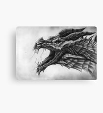 Winged Snow Hunter Canvas Print
