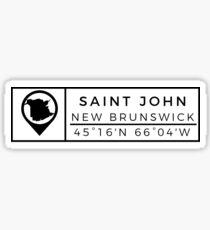 Saint John Sticker