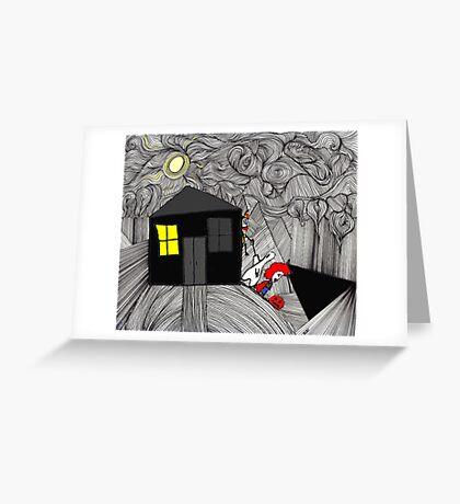 Sneaking off on Halloween Greeting Card