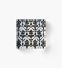 Sherlock Wallpaper Print Acrylic Block