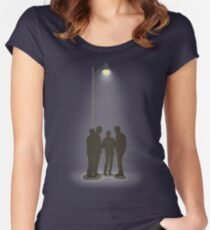 Four Guys Under A Streelamp Women's Fitted Scoop T-Shirt