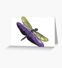 Non-binary Dragonfly Greeting Card