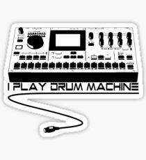 I Play Drum Machine Sticker