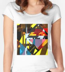 Glass Cross City #1 Women's Fitted Scoop T-Shirt