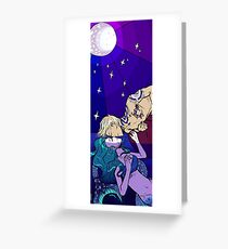 The mermaid and the sailor Greeting Card
