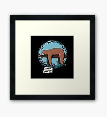 Lazy Song of Sloth Framed Print