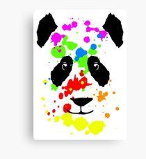 Cute Panda Color Splash Canvas Print