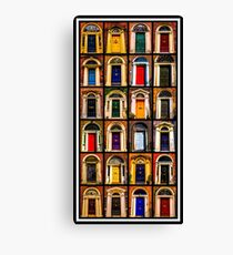 Georgian Doors of Dublin Collage #2 Canvas Print