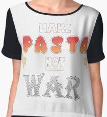 MAKE PASTA NOT WAR [Hetalia] Women's Chiffon Top