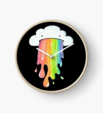 cute rainbow cloud  Clock