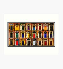 Georgian Doors of Dublin Collage #1 Art Print
