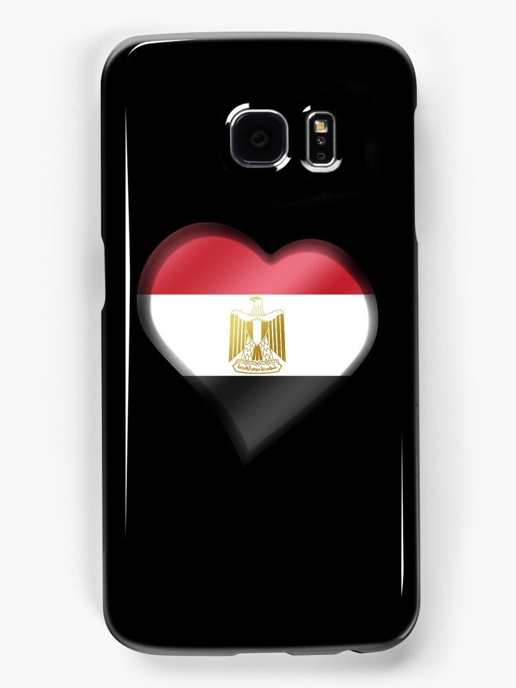 Egyptian Flag - Egypt - Heart by graphix