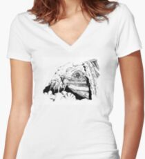 Snapping Turtle Women's Fitted V-Neck T-Shirt