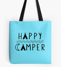Happy Camper | Camping | Tribal Print Design Tote Bag