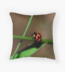 lady bird Throw Pillow
