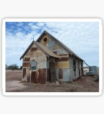 A church for the silver screen at Lightning Ridge  Sticker