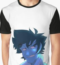 Blue Spike Graphic T-Shirt
