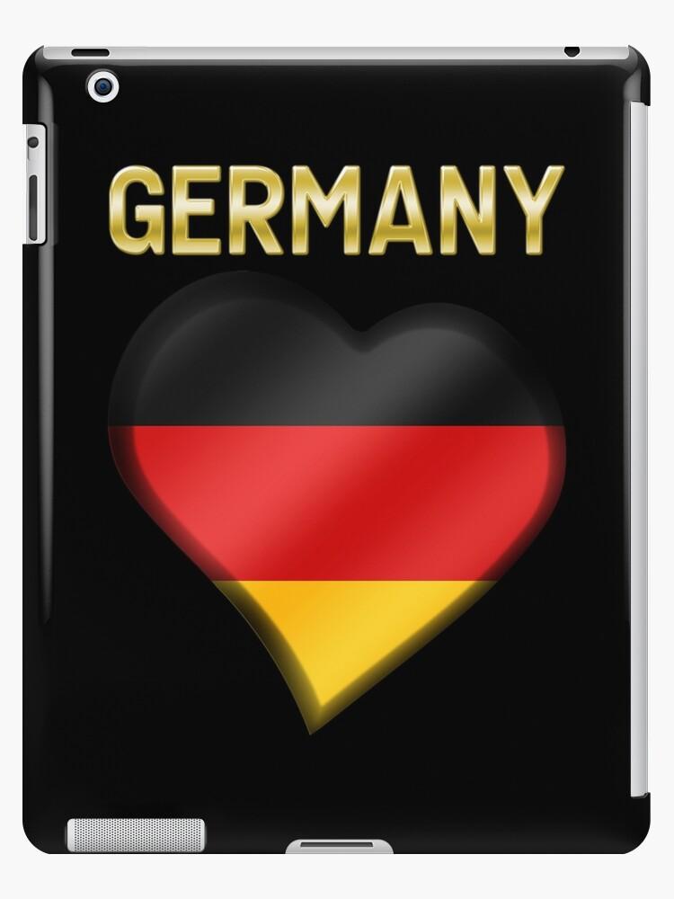 Germany - German Flag Heart & Text - Metallic by graphix