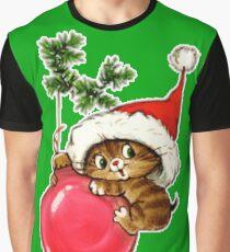 Cute Christmas Kitten  Graphic T-Shirt