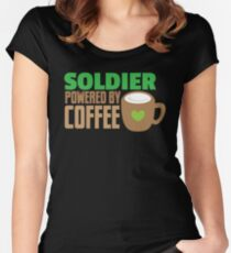 Soldier powered by coffee Women's Fitted Scoop T-Shirt