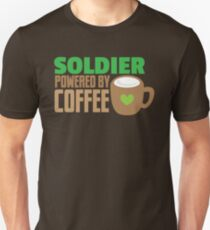 Soldier powered by coffee T-Shirt