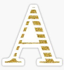 Alpha Sparkle Glitter Gold A Sticker