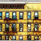 NYC Yellow Building 2 by Ellen  Hagan