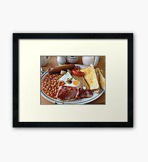 British Fried Breakfast Framed Print