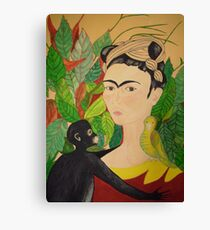 Tribute to Frida Canvas Print