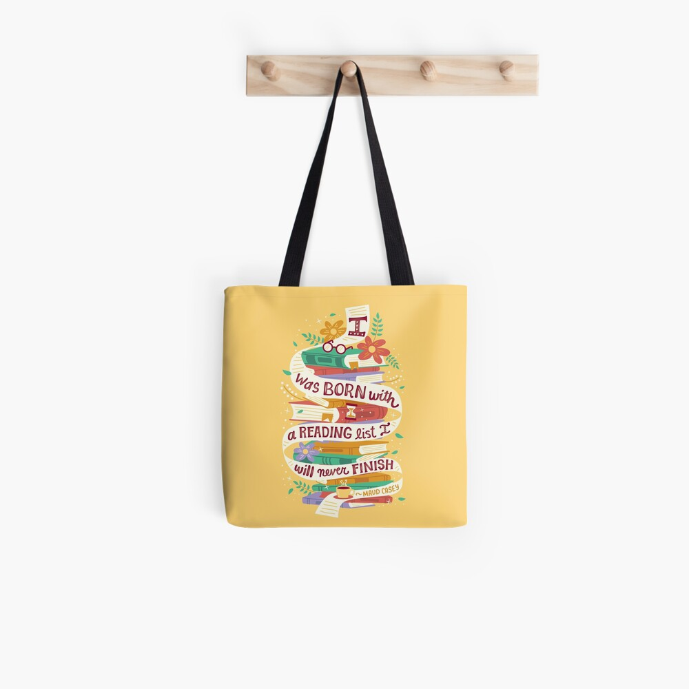 Lese liste Stofftasche