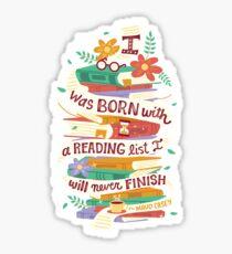 Reading list Sticker