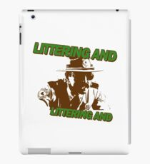 Littering iPad Case/Skin