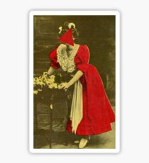 Woman in Red. Sticker