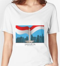 The capital city of Jakarta Women's Relaxed Fit T-Shirt