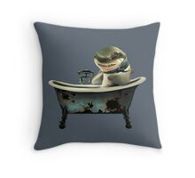 Shark Tub Throw Pillow