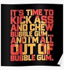 Kick Ass & Chew Bubble Gum Poster