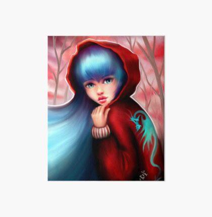 Red Riding Hood - Skater Girl in Forest Art Board