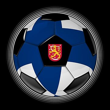 Finland - Finnish Flag - Football or Soccer de graphix