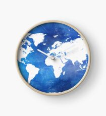 Wonderful world map Clock