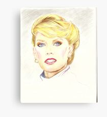 Blond with french twist Canvas Print