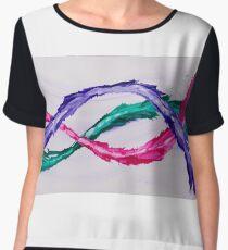 Colours Embrace - Fluid Paint on Canvas design Women's Chiffon Top