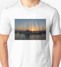 Sunset Through the Rigging -  T-Shirt