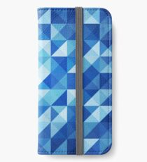 Blue Triangles iPhone Wallet/Case/Skin
