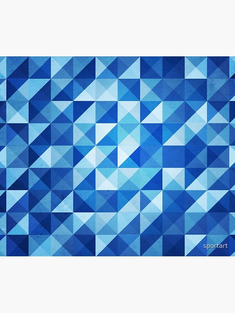 Blue Triangles by sportart