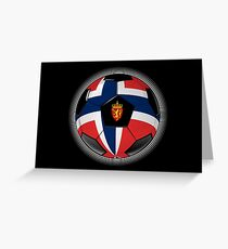 Norway - Norwegian Flag - Football or Soccer Greeting Card